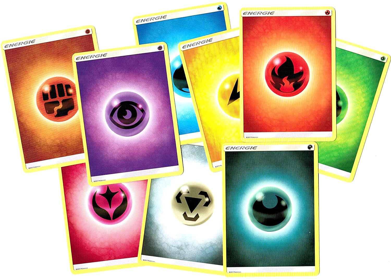 45 Energiekarten gemischt