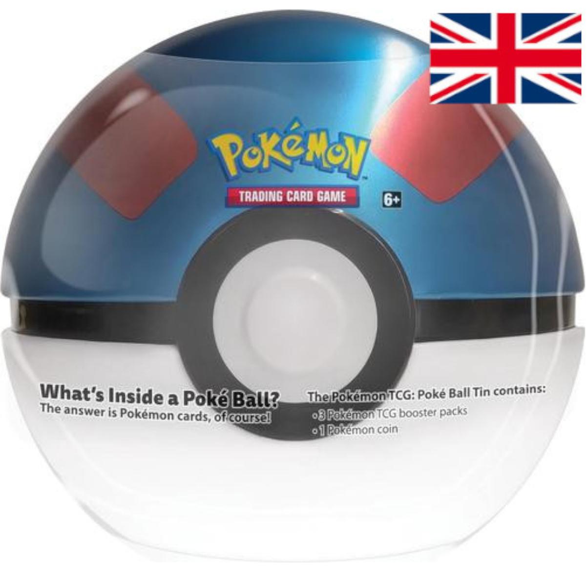 Pokémon - March 2021 POKÉBALL TIN - Great Ball