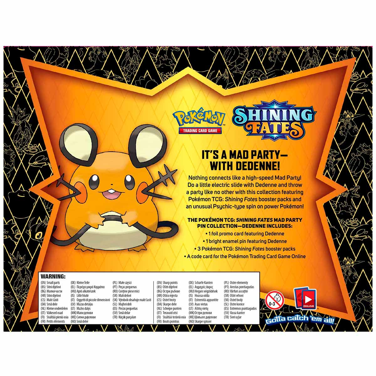 Pokémon - Shining Fates Mad Party Pin Collection - Dedenne